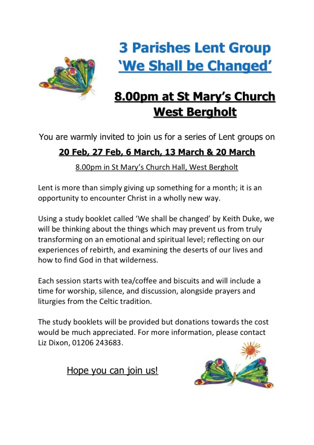 Lent group 2018 poster